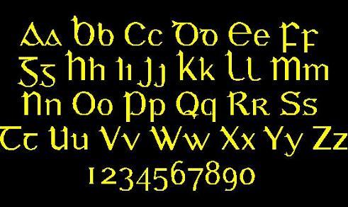 gaelico vocabulario