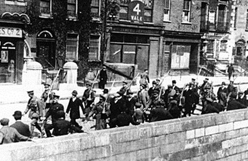 Prisioneros irlandeses en el Alzamiento de Pascua