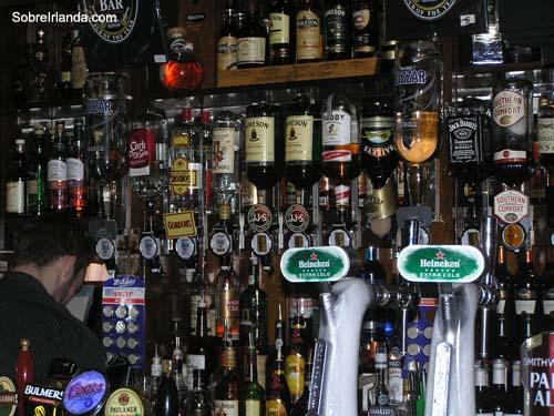 Barra de pub en Dublin